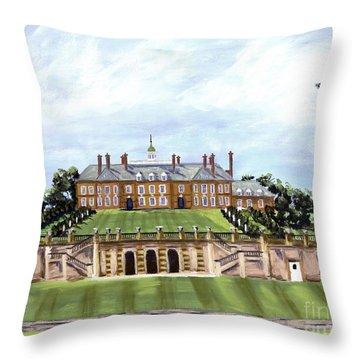 The Crane Castle Throw Pillow