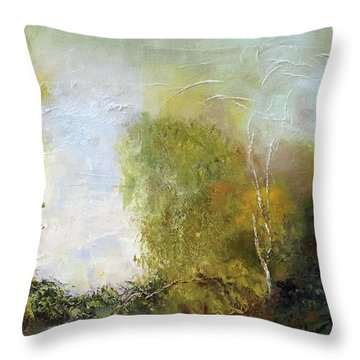 Throw Pillow featuring the painting The Creek by Marlene Book