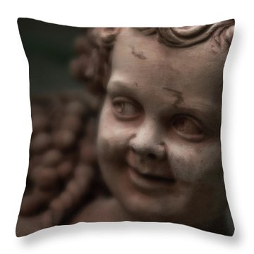 The Creepy Statue Throw Pillow