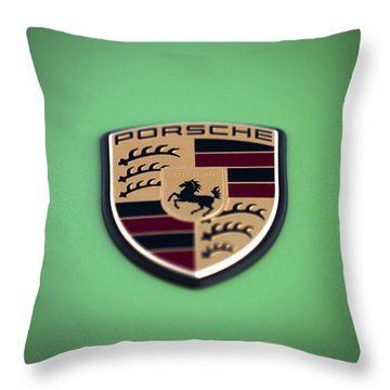 The Crest Throw Pillow