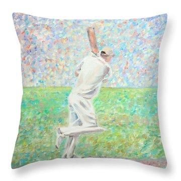 The Cricketer Throw Pillow