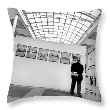 The Critic Throw Pillow by Robert Lacy