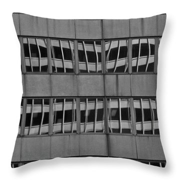 The Crooked House Throw Pillow by Juergen Weiss