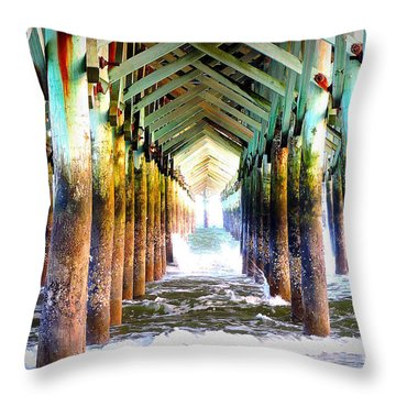 The Cross Before Us Throw Pillow