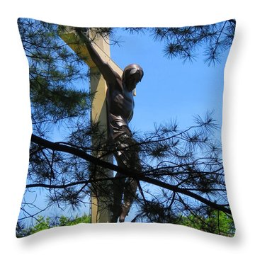 The Cross In The Woods Throw Pillow