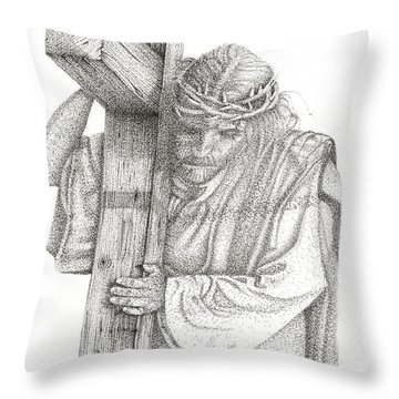 The Cross Throw Pillow by Mayhem Mediums