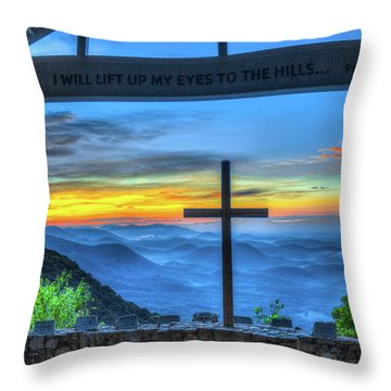 The Cross Sunrise At Pretty Place Chapel Throw Pillow