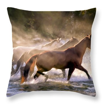 The Crossing Throw Pillow by Janet Fikar