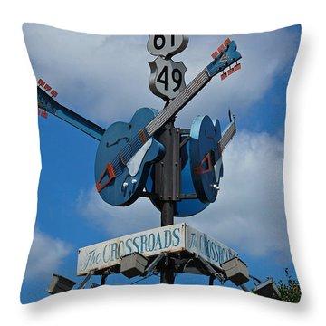 The Crossroads Throw Pillow
