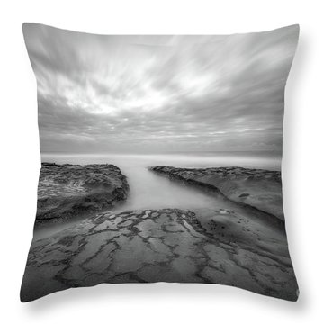 The Crossroads Bw Throw Pillow