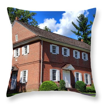The Crosswicks Meeting House In Chesterfield  Throw Pillow by Olivier Le Queinec