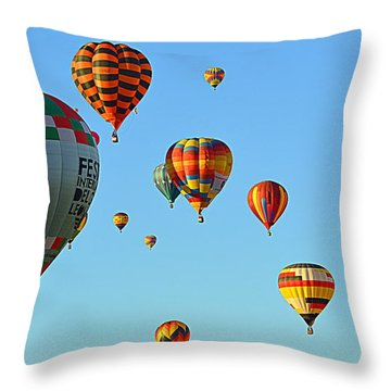 Throw Pillow featuring the photograph The Crowded Skies by AJ Schibig