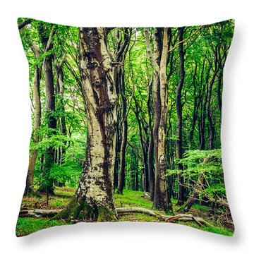 The Crowds Throw Pillow
