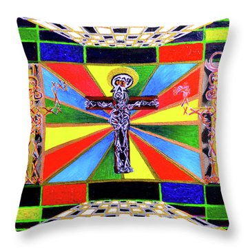 The Crucifffictiooon - Paradisi Gloooria Throw Pillow