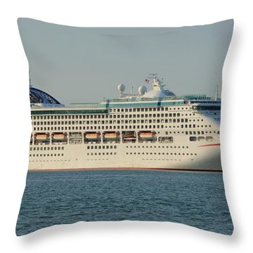 The Cruise Ship Oceana Throw Pillow