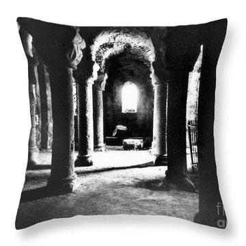 The Crypt Throw Pillow
