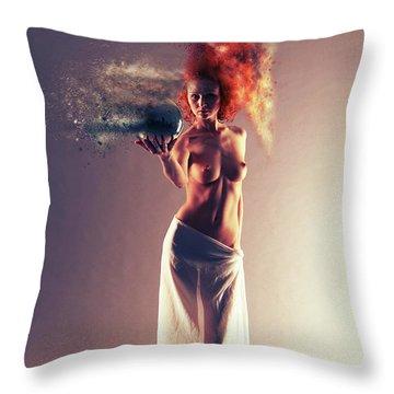 Crystals Throw Pillows
