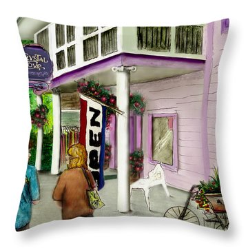 Throw Pillow featuring the drawing The Crystal Cove At Lilydale Ny by Albert Puskaric