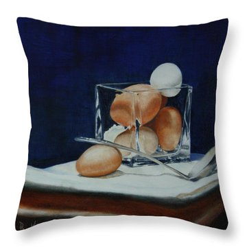 The Crystal Nest Throw Pillow by Roena King