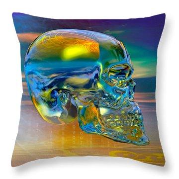 The Crystal Skull Throw Pillow