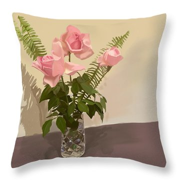 The Crystal Vase Throw Pillow