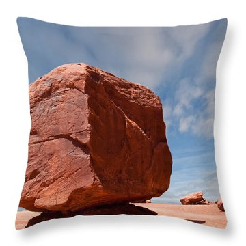 The Cube At Monument Valley Throw Pillow