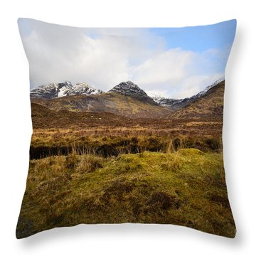 The Cuillins Throw Pillow