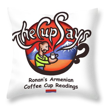 The Cup Says Logo Throw Pillow by Renee Womack