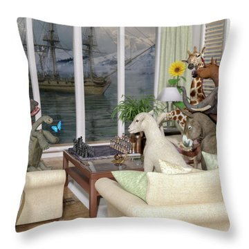 The Curious Room Throw Pillow