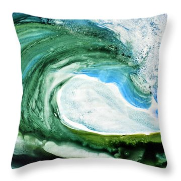 Throw Pillow featuring the painting The Curl by Joan Hartenstein