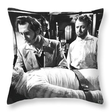 The Curse Of Frankenstein 1957 Baron Victor Frankenstein Throw Pillow