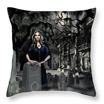 The Curse Of Johnson Bayou Throw Pillow by James Christopher Hill