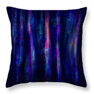 The Curtain Throw Pillow by Rachel Christine Nowicki