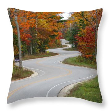 The Curvy Road Throw Pillow