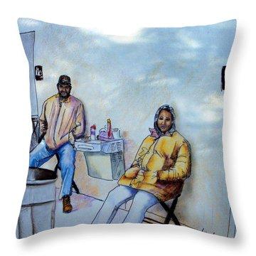 The Custodians Throw Pillow