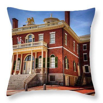 Throw Pillow featuring the photograph The Custom House Salem Massachusetts  by Carol Japp