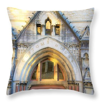 The Customs House Throw Pillow
