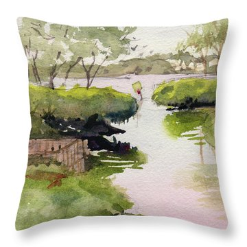 Throw Pillow featuring the painting The Cut by Kris Parins