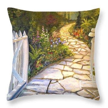 The Cutting Garden Throw Pillow