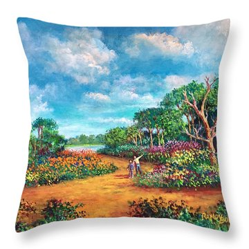 The Cycle Of Life Throw Pillow by Randy Burns
