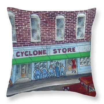 The Cyclone Store 1948 Throw Pillow