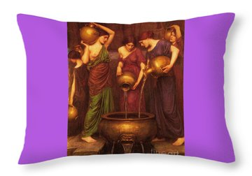 The Danaides Throw Pillow by Pg Reproductions