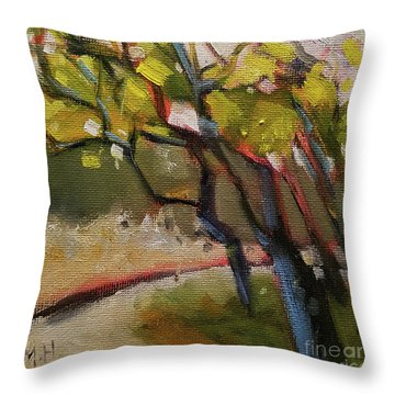 The Dance Abstract Tree Woods Forest Wild Nature Throw Pillow