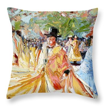 The Dance At La Paz Throw Pillow
