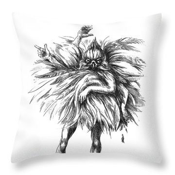 The Dance Macabre Throw Pillow
