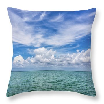 Throw Pillow featuring the photograph The Dance Of Clouds On The Sea by Louise Lindsay