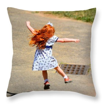 Out Of School Throw Pillow