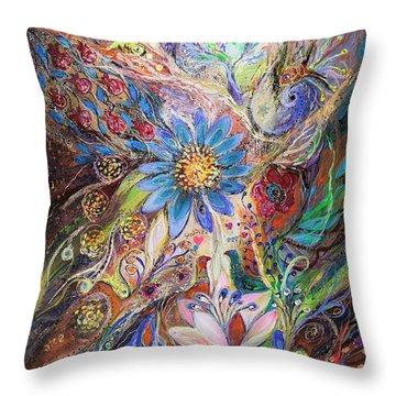 The Dance Of Light Throw Pillow by Elena Kotliarker