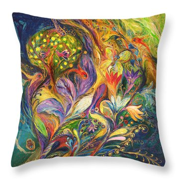 The Dance Of Lilies Throw Pillow by Elena Kotliarker