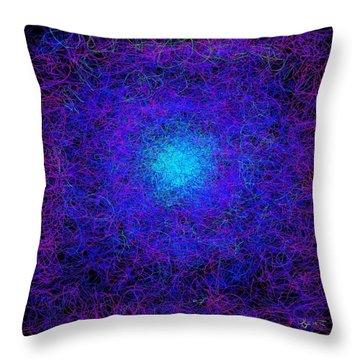 The Dance Of Maya Throw Pillow by Dave Luebbert